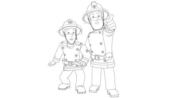 Feuerwehrmann Sam Malvorlagen Gratis