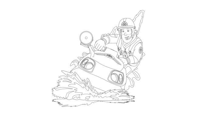 KiKA - Ausmalbilder Feuerwehrmann Sam