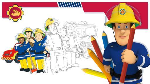 Kika Ausmalbild Feuerwehrmann Sam