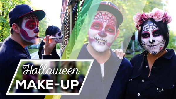 DIY Halloween-Make Up | Rechte: FranziGruber/KiKA