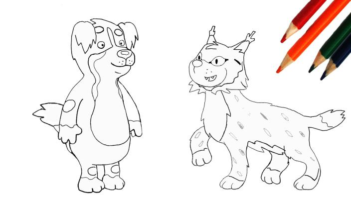 KiKA - Ausmalbild Löwenzähnchen