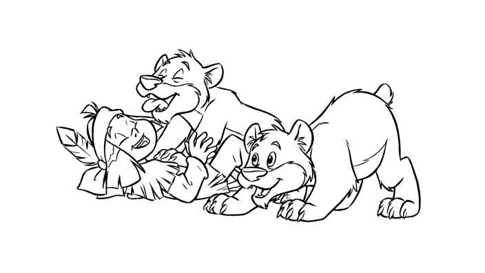 Kika Yakari Spielt Mit Den Kleinen Bären